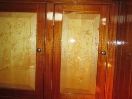 cabinet hardware, brass nobs for boat cabinets, rebuilding cabinets for a sailboat, sailboat interior, upgrading cabinets on a sailboat.