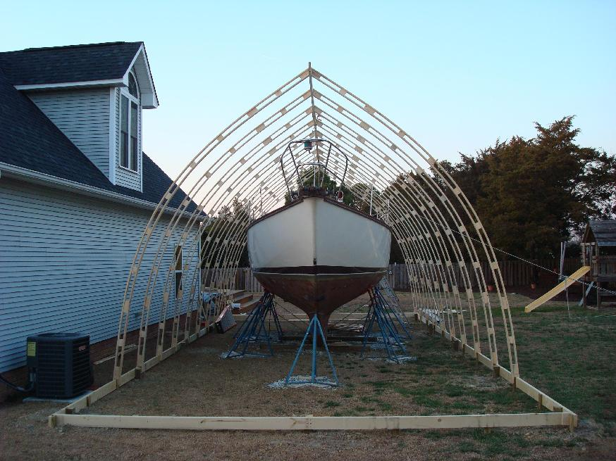 Gothic roof rafters for Bow roof shed